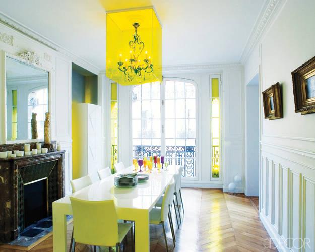 Elle Decor, Decorator for this Paris apartment is Christophe Périchon